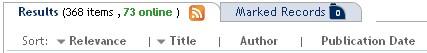 Image of top menu, showing publication date option.