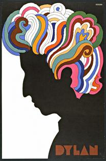 Image of Dylan by Milton Glaser, 1966.