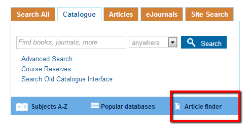 Article Finder