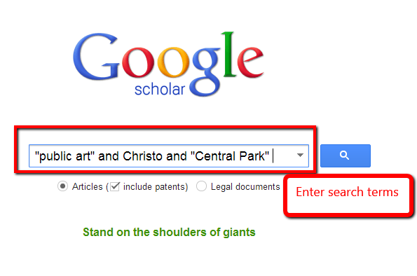 Google Scholar Searching