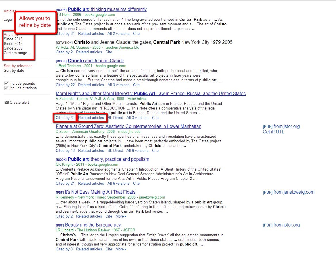 Searching Google Scholar