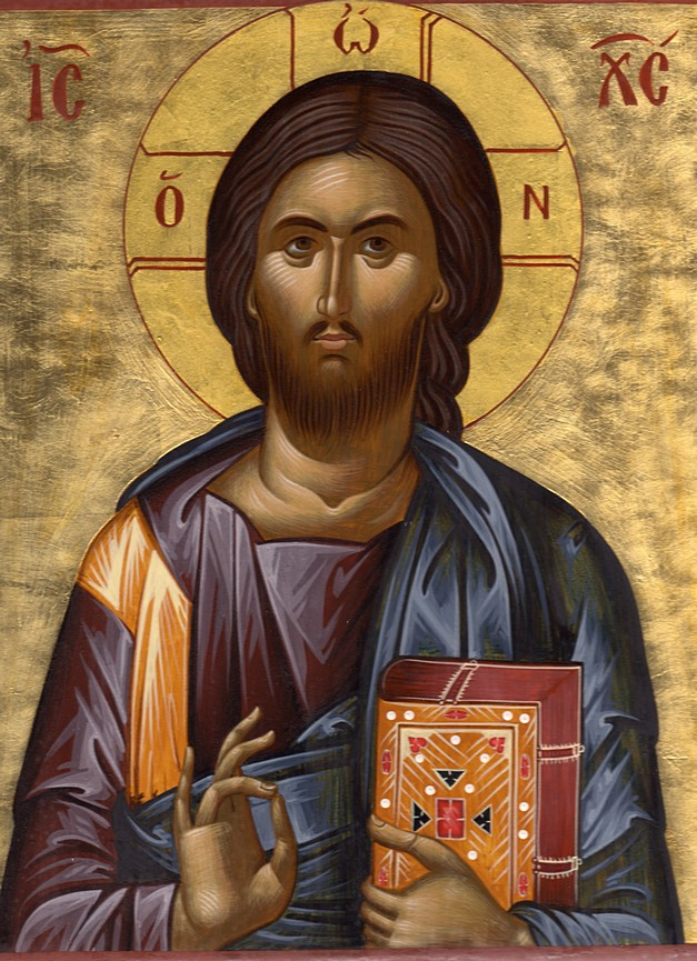 "An icon of the Pantocrator, ""Christ the Ruler."""