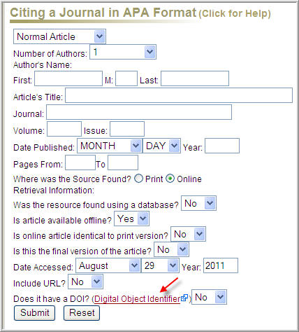 Apa work cited website generator
