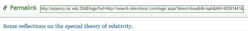 Permalink on EbscoHost