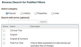 MyNCBI manage PubMed filter