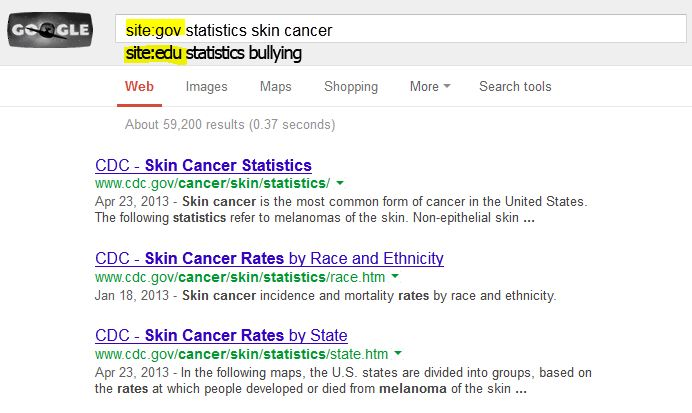 Statistics via Google