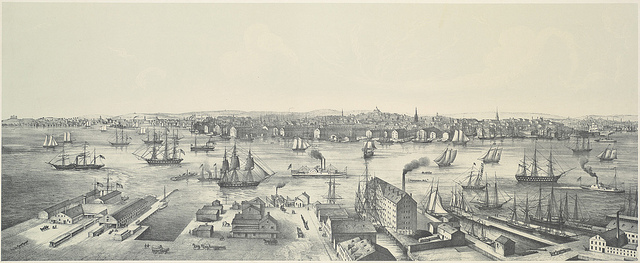 View of Boston in 1848