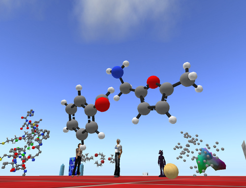 Molecules from Second Life Creative Commons license from Fleep Tuque