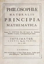 Cover of Principia from Burns Library page