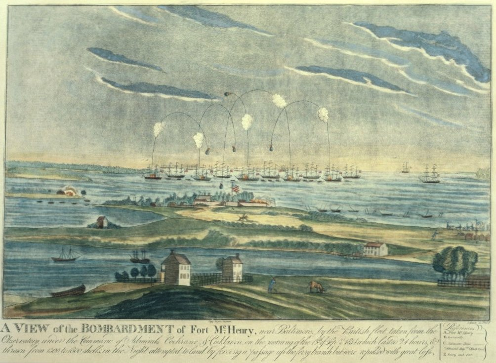 View of the Bombardment of Ft. McHenry in 1814