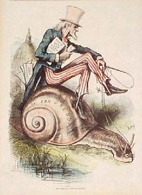 Cartoon of Uncle Sam, 1877