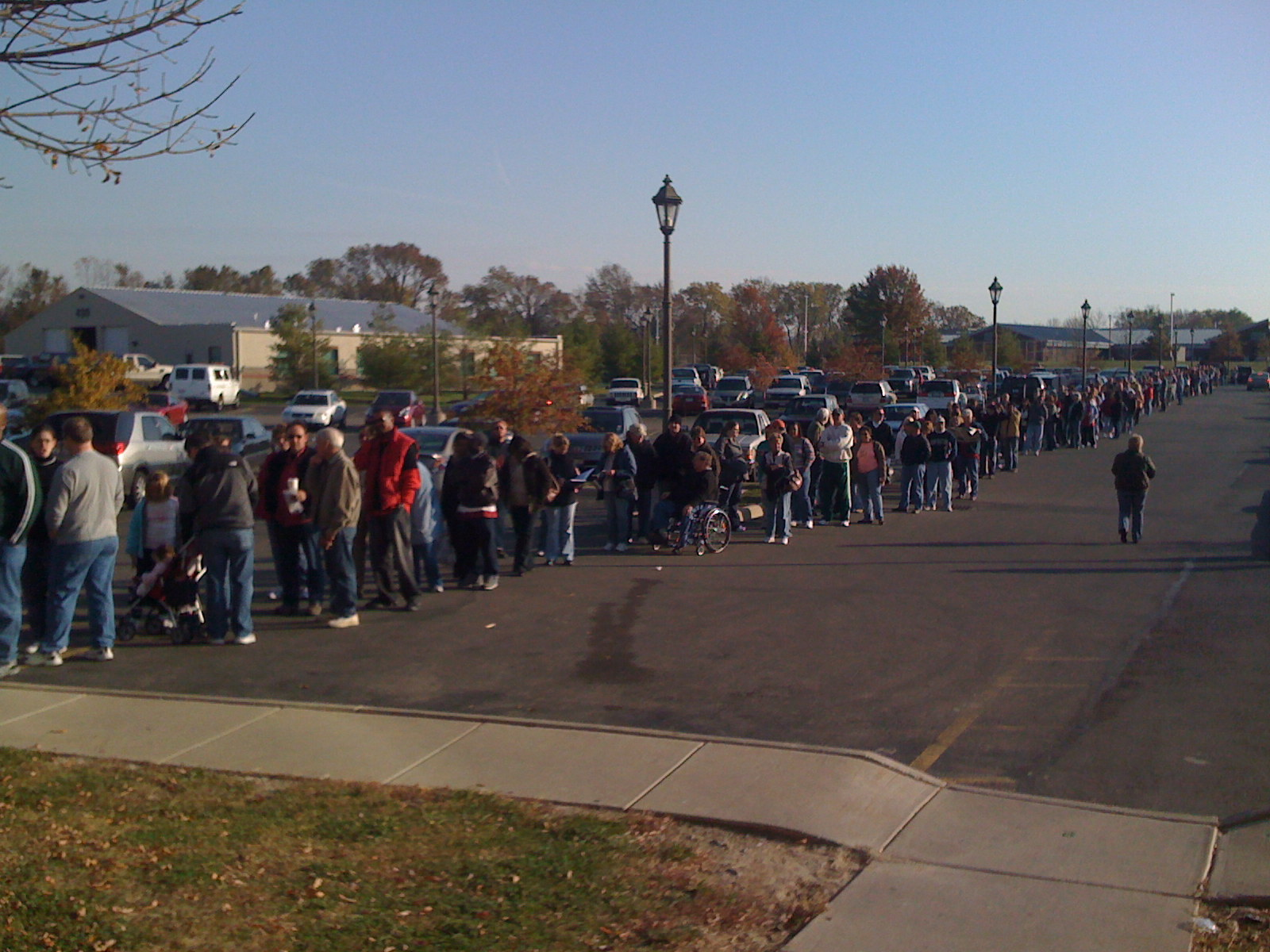 Voting queue in Ohio 2008