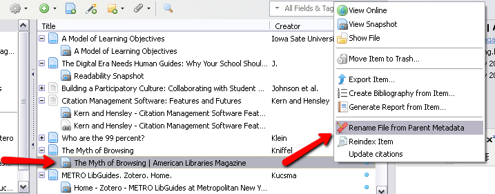 rename PDF file from parent metadata