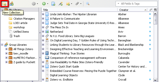 organizing your Zotero collection folders