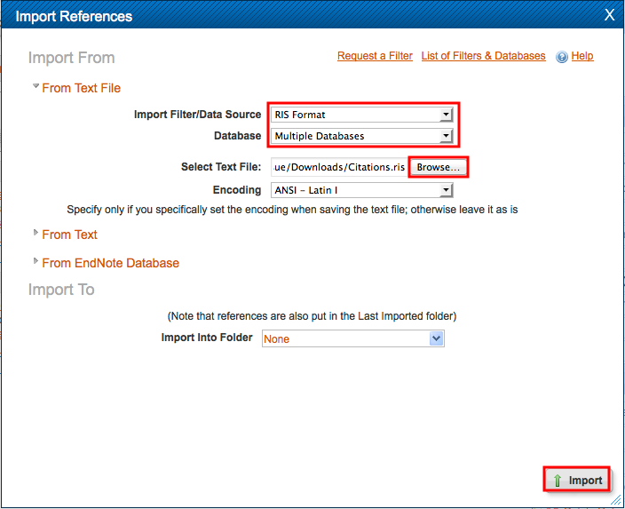 Import reference mananger in RefWorks