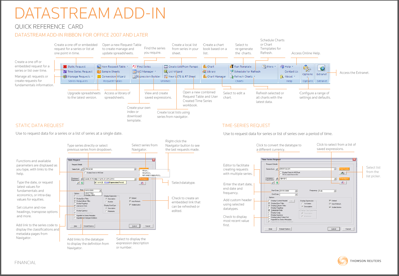 Datastream Excel Add-in Quick Guide