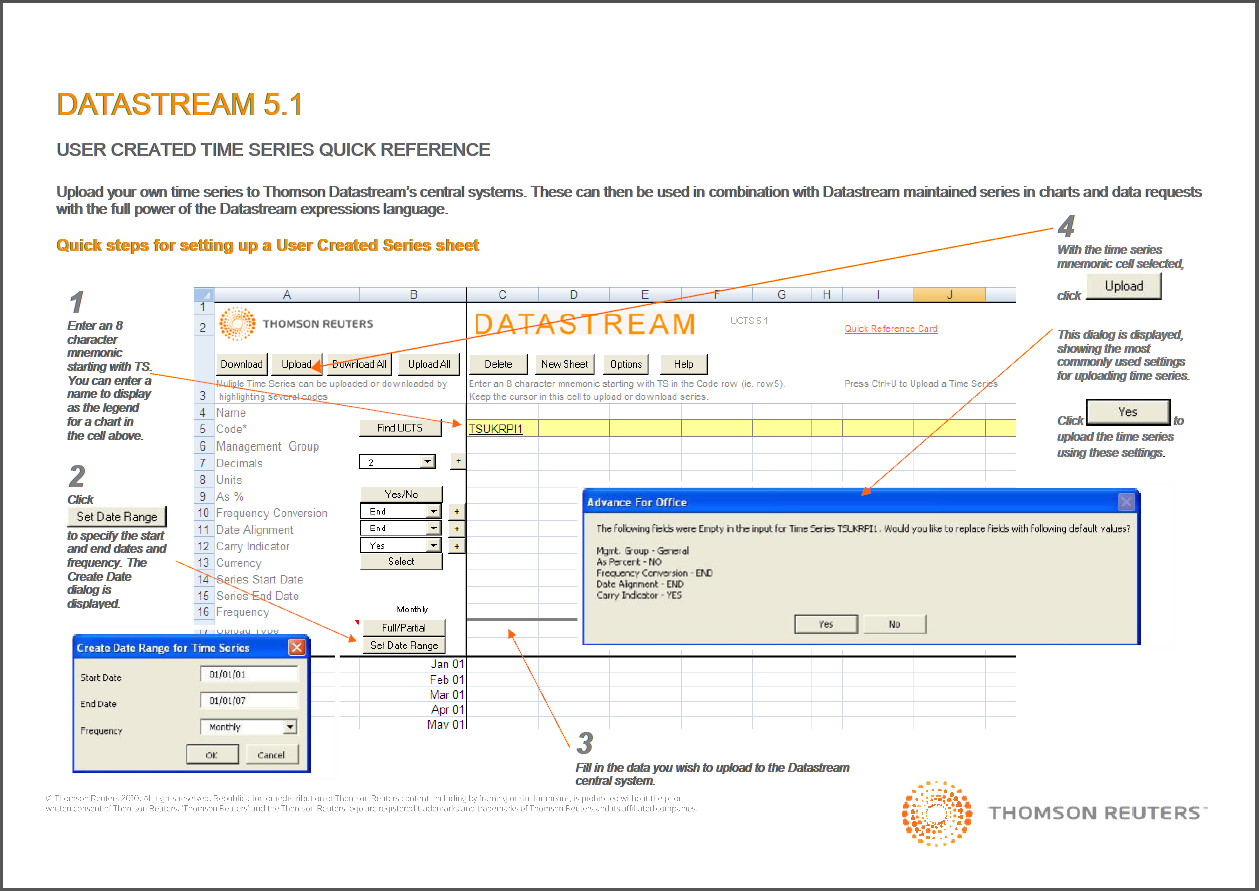 Datastream Time Series Quick Guide