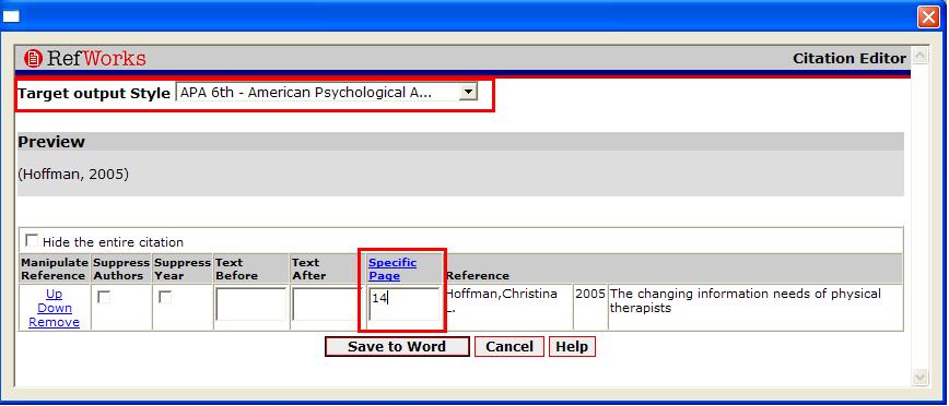 Screen shot demonstrating instructions