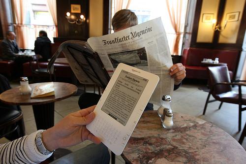 german daily newspaper Frankfurter Allgemeine on paper and epaper