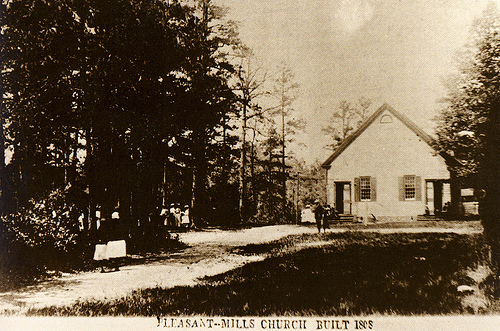 Old Photo of the Batsto (Pleasant Mills) Church, NJ by Owls Flight