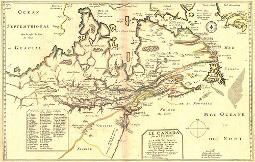 Le Canada (Pierre Du Val 1653) by Manitoba Historical Maps