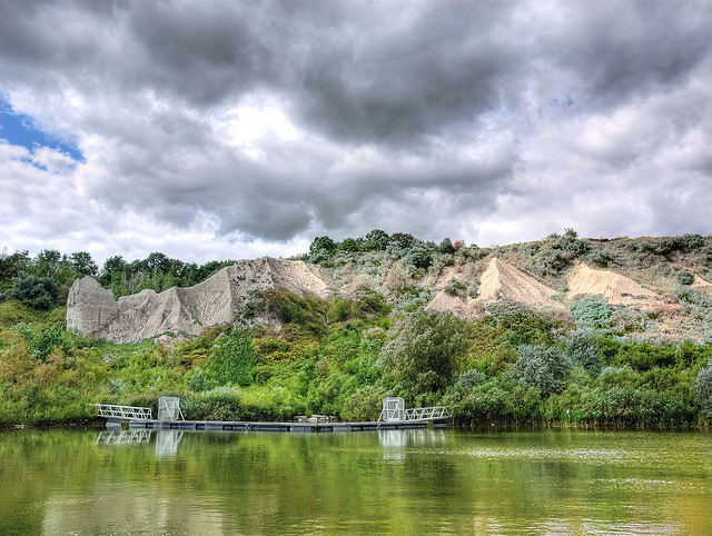 photo, reflecting the bluffs