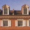 portico windows on brick house
