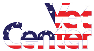 Vet Center logo with American flag colors