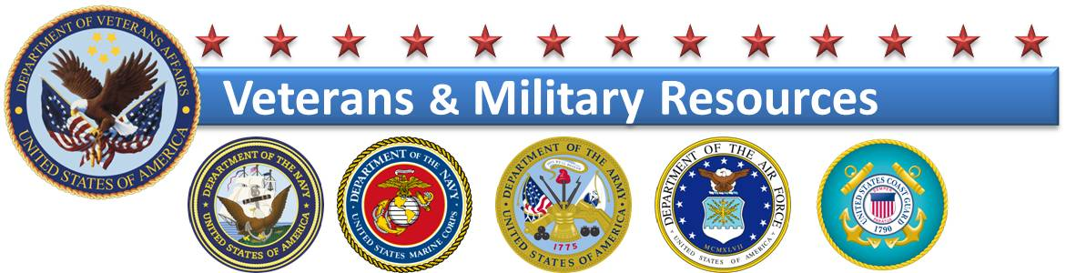 Veterans and Military Resources images with military branch logos