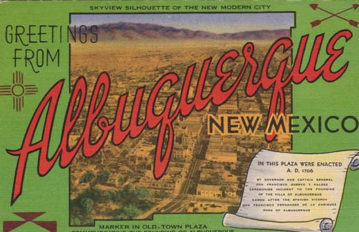 Greetings from Albuquerque postcard