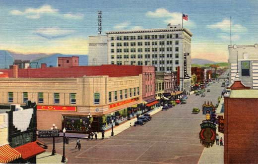 Central Ave. and Fourth St. in the heart of Albuquerque
