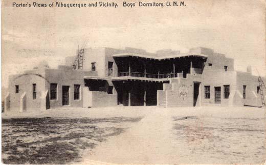 Porter's Views of Albuquerque and Vicinity, Boys Dormitory, U.N.M.