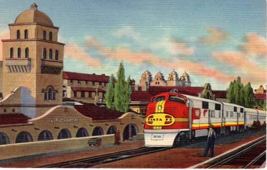 "Santa Fe ""Super Chief"" at Albuquerque, New Mexico"