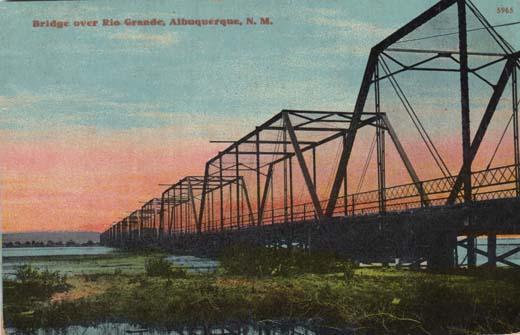 Bridge over Rio Grande, Albuquerque, N. M.
