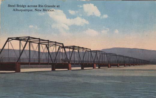 Steel Bridge across Rio Grande at Albuquerque, New Mexico