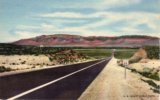 Highway U. S. 66 entering Rio Grande Valley at Albuquerque, N. Mex.
