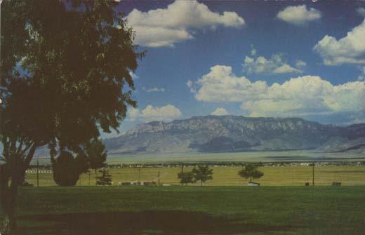 Sandia Mountains East of Albuquerque, N. M.