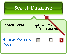 Search database button