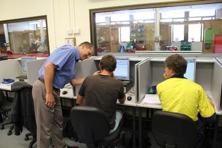 Electrotechnology class at Hunter TAFE