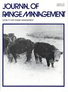 Journal of Range Management cover