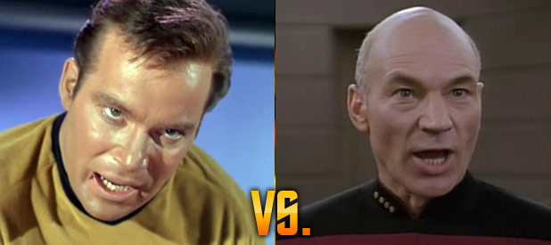 Kirk and Picard