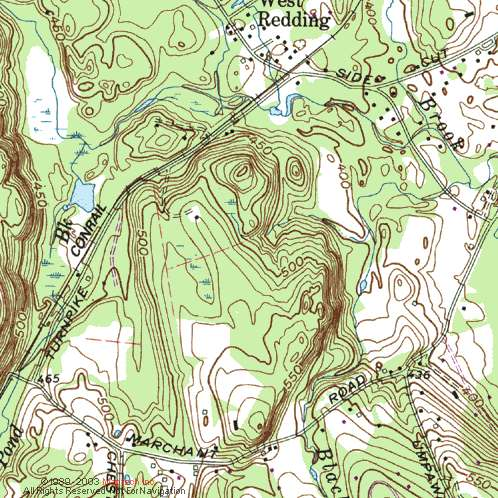 Topographical Map example