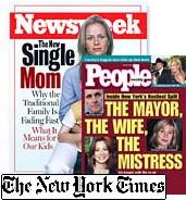 Newsweek and People magazine covers