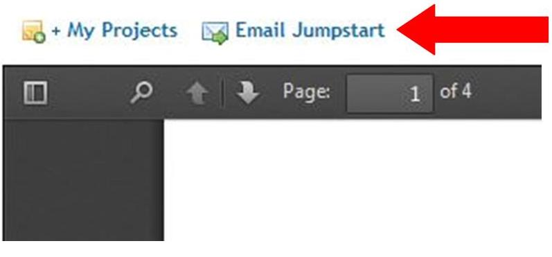 The Email Jumpstart link is located above the embedded PDF
