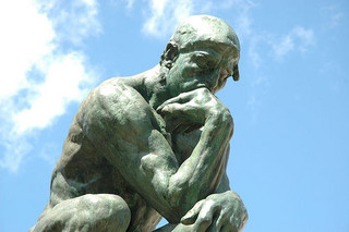 [Megnut, 'The Thinker', CC BY-NC 2.0 (https://creativecommons.org/licenses/by-nc/2.0/deed.en ), source: flickr (https://www.flickr.com/photos/megnut/11323364/)]