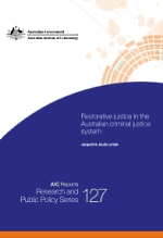 Joudo-Larsen, J 2014, Restorative justice in the Australian criminal justice system, Australian Institute of Criminology, Canberra.