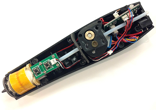 Image of the interior of a 3D pen tool