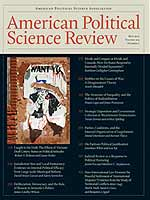 Cover of American Political Science Review