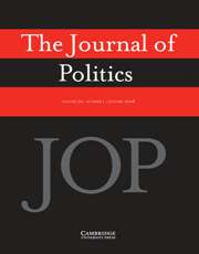 Cover of the Journal of Politics