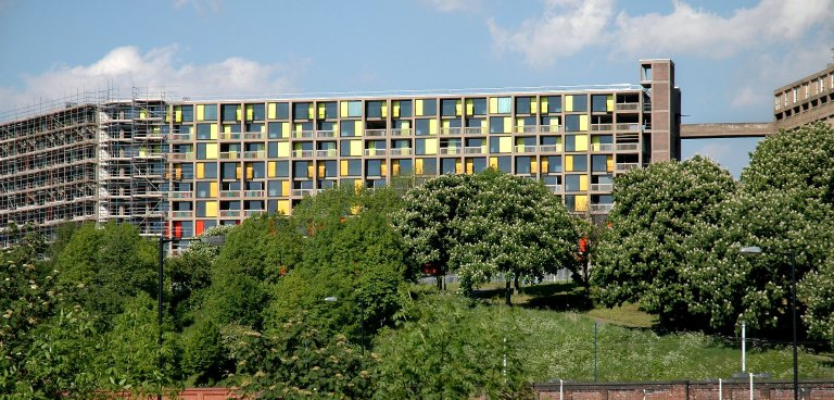 This is an image of Park Hill flats.